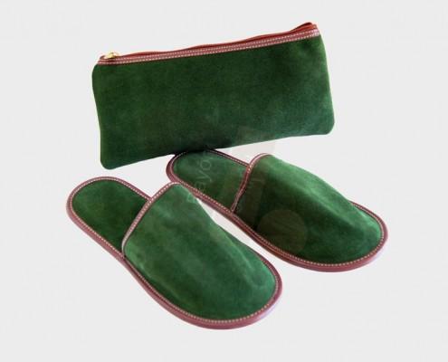 Zapatillas de viaje piel, zapatillas de viaje serraje, equipamiento hotelero zapatillas, accesorios de viaje zapatillas